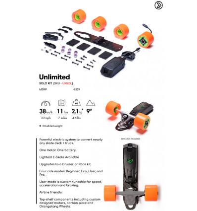 LOADED x UNLIMITED solo kit tutto ciò che serve per il tuo skate elettrico