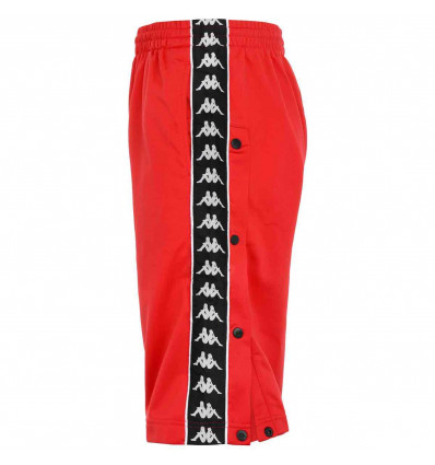 KAPPA BANDA SNAPSWELL SHORT pantaloncino uomo rosso con bottoni