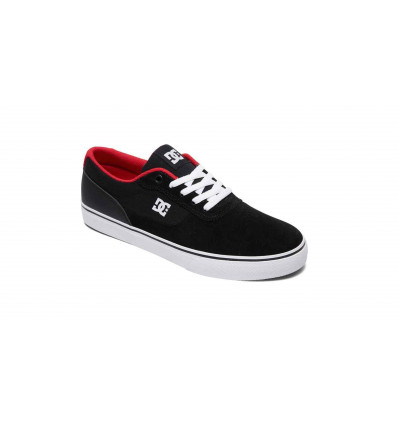 DC SHOES SWITCH BLACK/ATHLETIC RED SCARPA SKATE UOMO