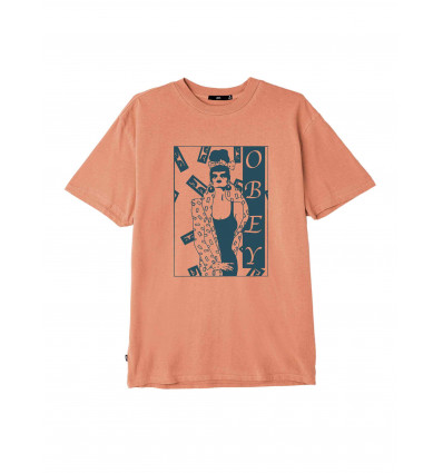 OBEY SORROUNDED PIGMENT TEE T-SHIRT A MANICA CORTA DA UOMO