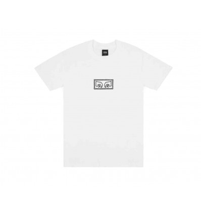 OBEY JUMBLED EYES WHITE T-SHIRT A MANICA CORTA DA UOMO