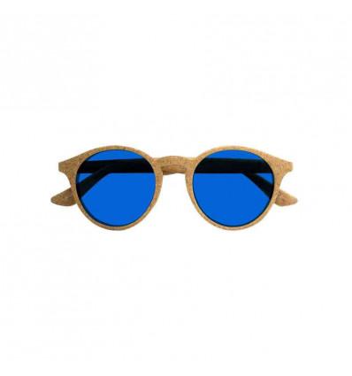 PARAFINA LAGUNA cor blu occhiale da sole unisex in sughero con lente polarizzata