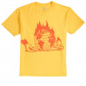 OBEY THE WORLD IS YOUR YELLOW T-SHIRT A MANICA CORTA DA UOMO