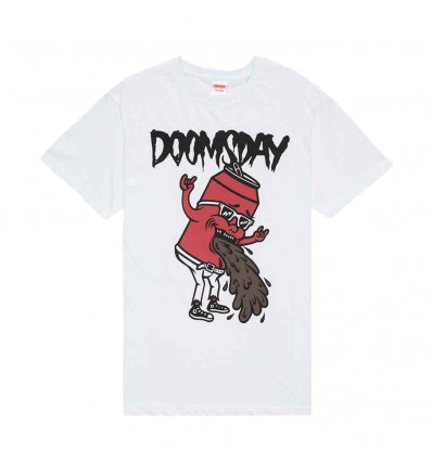 DOOMSDAY PARTY HARD WHITE T-SHIRT A MANICA CORTA DA UOMO