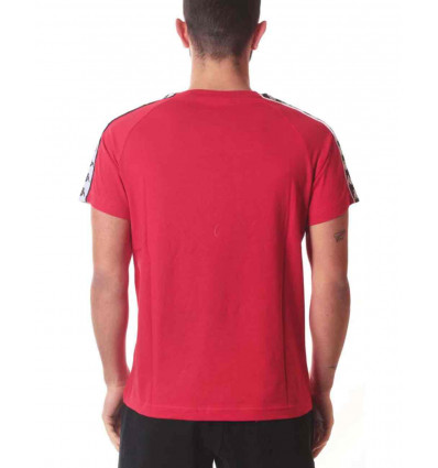 KAPPA 222 BANDA COENLY SLIM RED-BLACK-WHITE T-SHIRT A MANICA CORTA DA UOMO (C