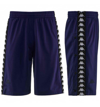 KAPPA BANDA SNAPSWELL SHORT blue-marine-black pantaloncino uomo con bottoni
