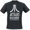 ATARI ENTERTAINMENT TECHNOLOGIES BLACK T-SHIRT MANICA CORTA UNISEX