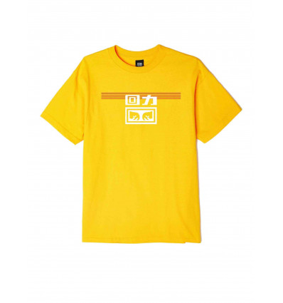 OBEY WARRIOR X OBEY LINES TEE GOLD
