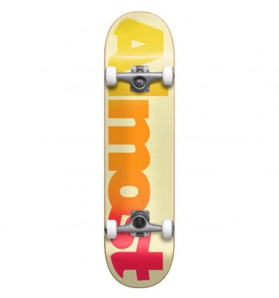 ALMOST STRAIGHT FADED FP CREAM SKATE ASSEMBLATO PROFESSIONALE