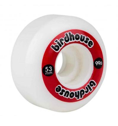 BIRDHOUSE LOGO WHEEL - WHITE RED 53 mm Ruote da skate 99A