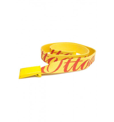 OTTOAVISTA belt yellow cintura unisex in tela