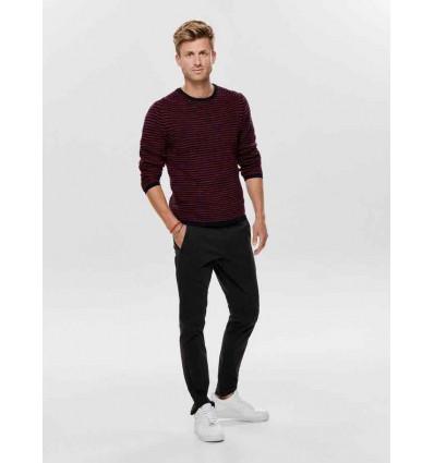 ONLY E SONS Sato sweater aura/orange/stripe maglione uomo