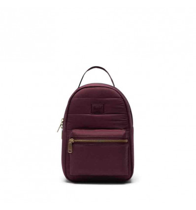 HERSCHEL quilted NOVA MINI plum zainetto donna 9L