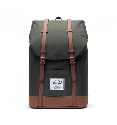 HERSCHEL retreat dark olive/saddle zaino unisex 19,5L
