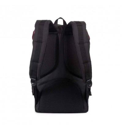 HERSCHEL little america black-tan-synthetic leather zaino unisex 25L porta pc