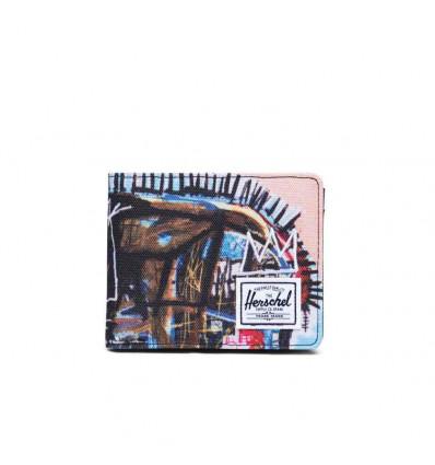 HERSCHEL ROY COIN RFID Basquiat skull portafoglio con portamonete
