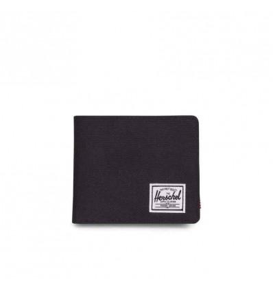 HERSCHEL ROY COIN xl RFID black portafoglio con portamonete