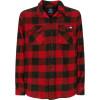 Dickies sacramento l\s shirt red camicia scacchi in flanella