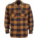 Dickies sacramento l\s shirt brown duck camicia scacchi in flanella