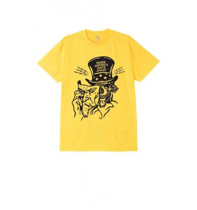 OBEY make america hate again yellow t-shirt a manica corta uomo
