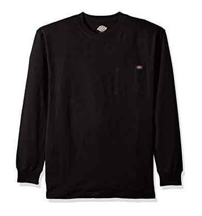 DICKIES L/S HEAVY WEIGHT black t-shirt manica lunga