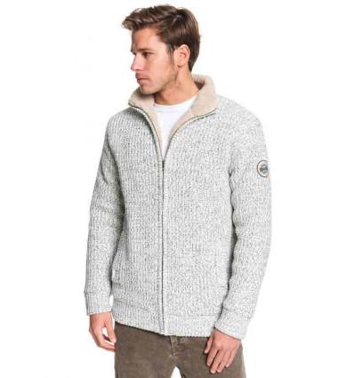 QUIKSILVER Boketto-maglia con collo mok zippato e fodera in sherpa da uomo