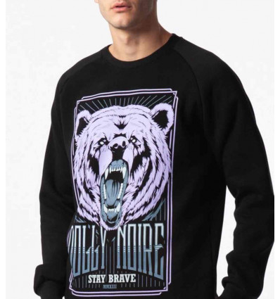 DOLLY NOIRE purple bear crewneck felpa uomo