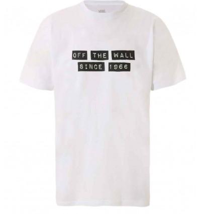 VANS per baker white t-shirt da uomo