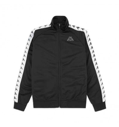 KAPPA anniston slim blk/white felpa zip triacetato