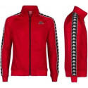 KAPPA anniston slim red/blk felpa zip triacetato