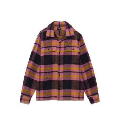 OBEY FITZGERALD camicia in flanella con taschino multi