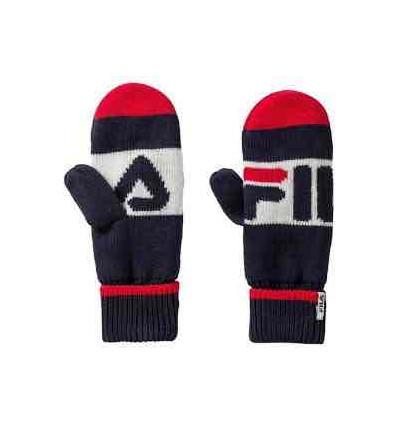 FILA intarsi knitted moffole unisex taglia unica