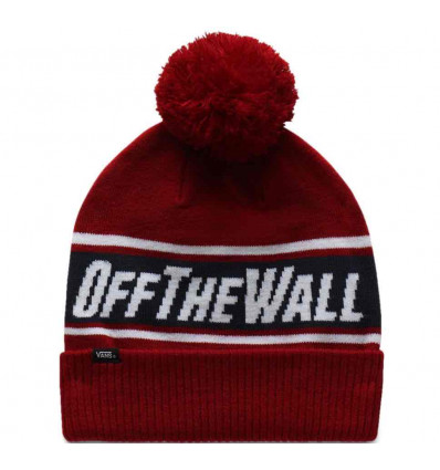 VANS off the wall pom pom biking red berretto unisex taglia unica