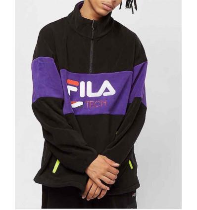 FILA men rejo fleece halph zip shirt pile con ricamo