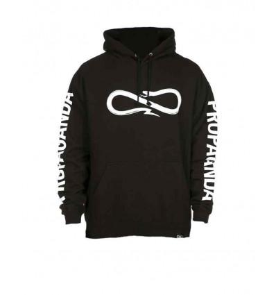 PROPAGANDA hoodie black snake felpa unisex