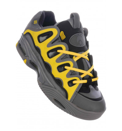 OSIRIS D3 charcoal yellow scarpe skate