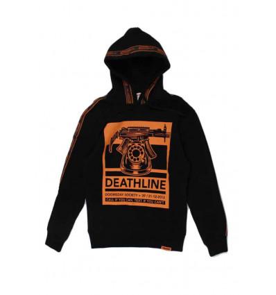 DOOMSDAY deathline hoodie blk felpa con cappuccio