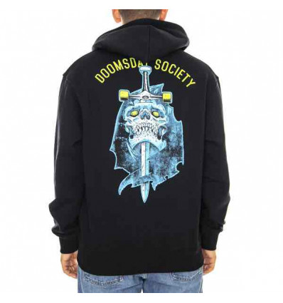 DOOMSDAY broken mind hoodie blk felpa con cappuccio e zip