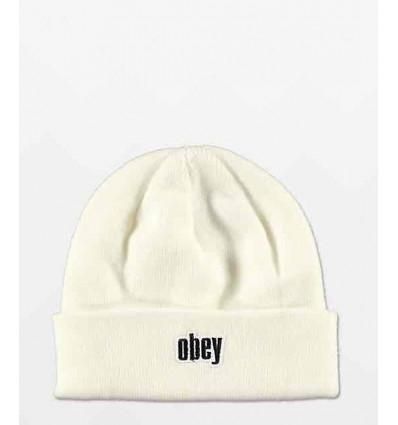 OBEY fresh jive beanie white berretto unisex