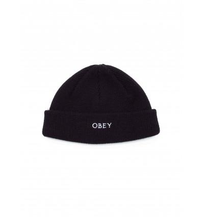 OBEY rollup beanie black berretto unisex
