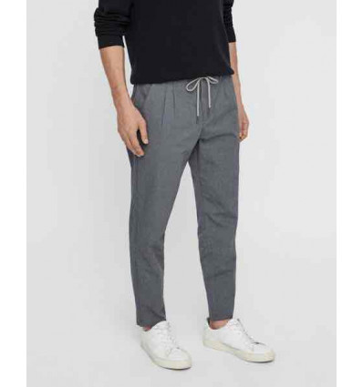 ONLY E SONS leo aop washed grey pinstripe pantalone chino