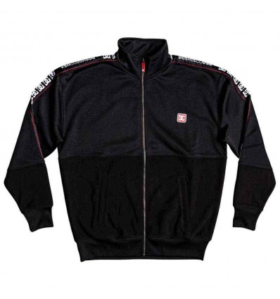 DC Fleece pelton mock black felpa con zip e cappuccio
