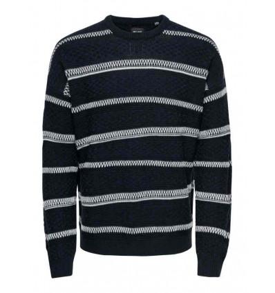 ONLY E SONS Cloud sweater black maglione uomo