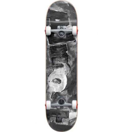 "ALMOST color bleed fp blk white skate assemblato 8"""