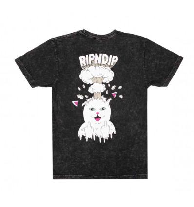 RIPNDIP mind blown black mineral wash tee t-shirt manica corta