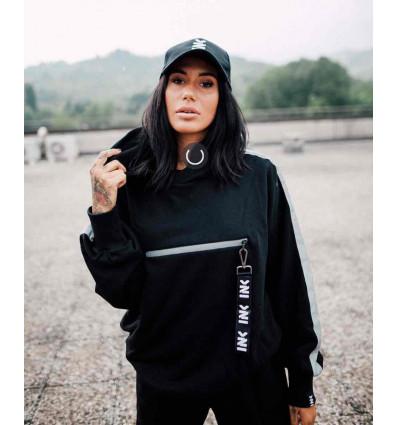 INKOVER streetwear hooded hooker 1 felpa con dettagli reflective