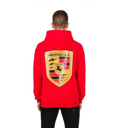 PROPAGANDA hoodie red propapo felpa