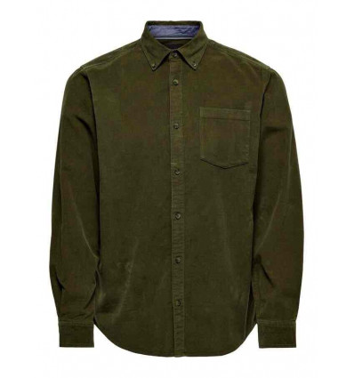 ONLY E SONS corduroy overshirt