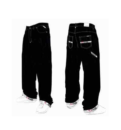 MASS DENIM jeans work black rinse baggy fit
