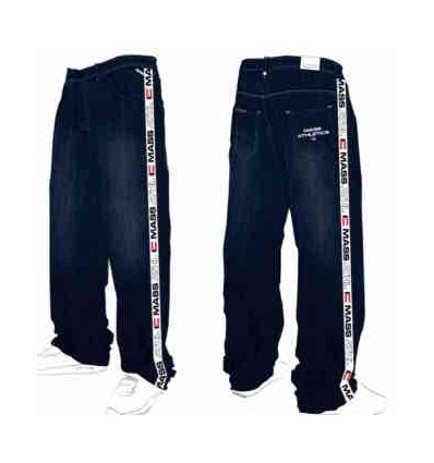 MASS DENIM jeans track rinse baggy fit